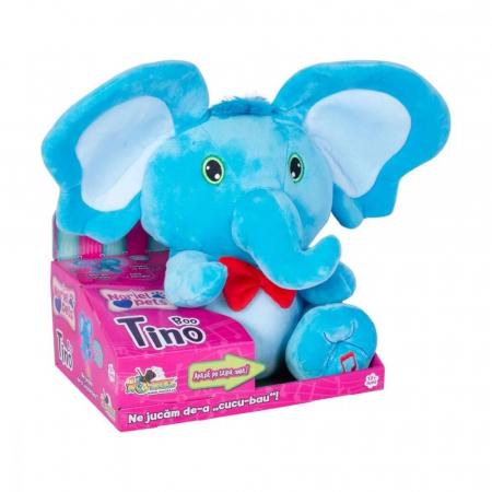 Jucarie de plus Noriel Elefant Cucu Bau - Tino Boo Elefantel1