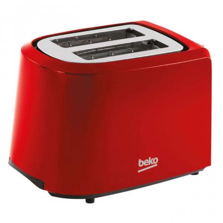 Prajitor de paine Beko TAM4201R, 850W, 7 nivele de prajire, 3 functii, 2 fante, Rosu0