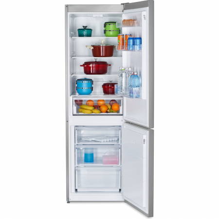 Combina frigorifica Heinner HC-V336XA++, 336 l, Clasa A++, H 186 cm, Tehnologie Less Frost, Control mecanic cu termostat ajustabil, Argintiu6