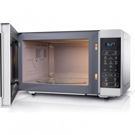 Cuptor cu microunde Sharp YCMS51ES, 25L, 900W, Gril 1000W, Digital, Argintiu2