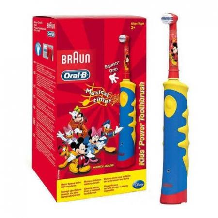 Periuta de dinti electrica Oral-B pentru copii D10.513K, 5600 oscilatii/min, rosu/albastru2