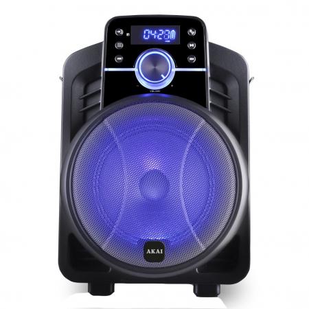 Boxa portabila Akai ABTS-I6 cu BT, lumini disco, app control, baterie 1800 mAH0