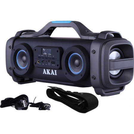 Boxa portabila AKAI ABTS-SH01 cu patru difuzoare super blaster , cu functie Karaoke ,Bluetooth , USB , Aux-in 3.5mm , Baterie reincarcabila [2]