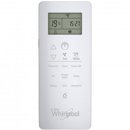 Aparat de aer conditionat Whirlpool SPIW 422, 24000 BTU, Clasa A++, Functie incalzire, Al 6-lea Simt, Display, Filtru HD + HEPA, Auto Restart, Dezumidificare2