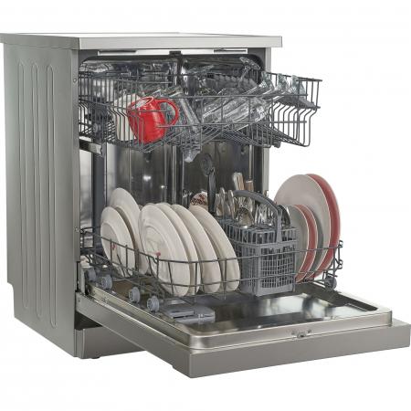 Masina de spalat vase Heinner HDW-FS6006DSA++, 12 seturi, 6 programe, Clasa A++, Control electronic, Display LED, 60 cm, Argintiu [4]