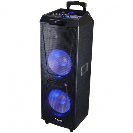 Boxa portabila Akai ABTS-AW122 cu BT, lumini disco, functie inregistrare, microfon1