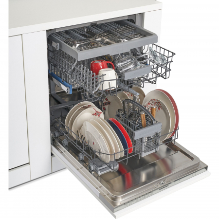 Masina de spalat vase incorporabila Heinner HDW-BI6083TA++, 15 seturi, 8 programe, Clasa A++, Touch Control, Display LED, 60 cm5
