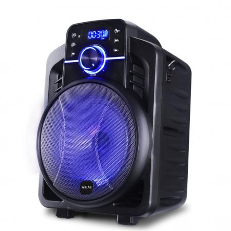 Boxa portabila Akai ABTS-I6 cu BT, lumini disco, app control, baterie 1800 mAH1