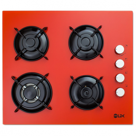 Plita incorporabila LDK YD640VE40T, 4 Arzatoare, 1 Arzator WOK, Aprindere electrica, Siguranta, 3 Ani garantie, 60 cm, Portocaliu0