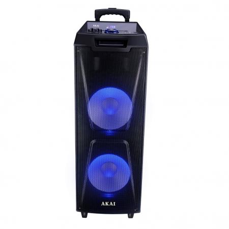 Boxa portabila Akai ABTS-AW122 cu BT, lumini disco, functie inregistrare, microfon0