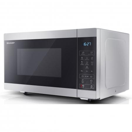 Cuptor cu microunde Sharp YCMS51ES, 25L, 900W, Gril 1000W, Digital, Argintiu5