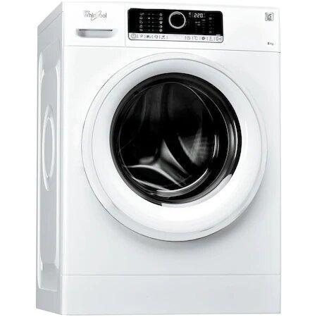 Masina de spalat rufe Whirlpool Supreme Care FSCR80412, 6th Sense, 8 kg, 1400 RPM, Clasa A+++, Alb0