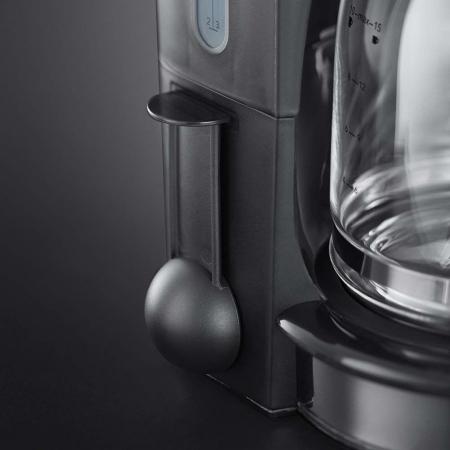 Cafetiera Russell Hobbs Retro Classic Blanc 21703-56, 1000 W, 1,25 l, Tehnologie avansata cu dus, Functie pause and pour, Mentinere la cald, Alb/Inox2