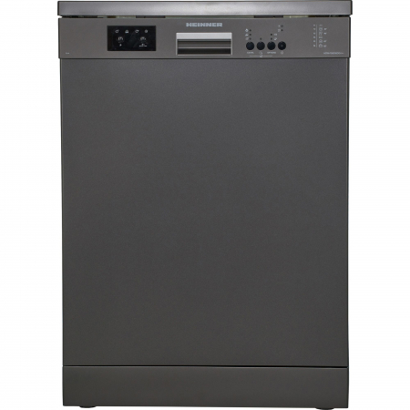Masina de spalat vase Heinner HDW-FS6006DGA++, 12 seturi, 6 programe, Clasa A++, Control electronic, Display LED, 60 cm, Gri antracit [0]