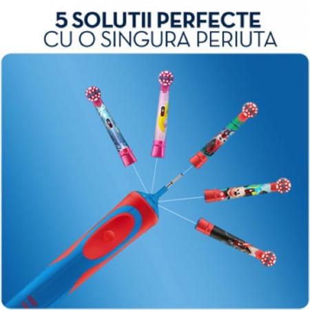 Rezerva periuta de dinti electrica pentru copii Oral-B Frozen EB10-2, 2 buc6