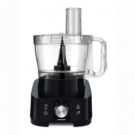 Robot de bucatarie Heinner Cookery Chef HFP-1000BK, 1000W, blender si rasnita incluse, capacitate bol 3.5L, capacitate blender 1.8L, 2 viteze + Pulse, cutit inox, Negru2