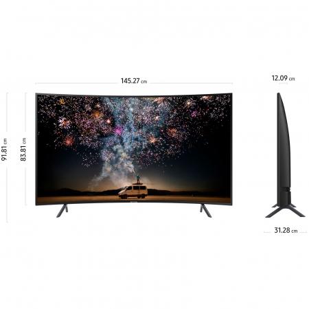 Televizor LED Curbat Smart Samsung, 163 cm, 65RU7302, 4K Ultra HD, Clasa A+ [10]