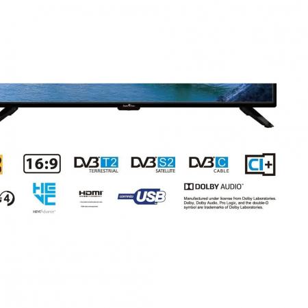 Televizor LED Smart Tech, SMT39Z30HC1L1B1, 98 cm, HD, Negru1