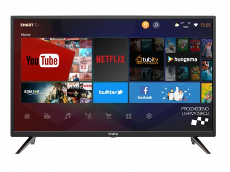 """Televizor LED Smart VIVAX 40LE113T2S2SM 40"""" (102 cm), Smart TV, Plat, Full HD, Android, Negru [0]"""