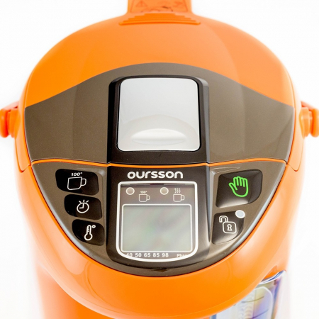 Thermopot Oursson TP4310PD/OR, fierbator + termos electric, 750 W, 4.3 l, Portocaliu [2]