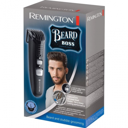 Trimmer pentru barba Remington MB4120, 11 setari de lungime prestabilite, Lama lavabila, Negru2
