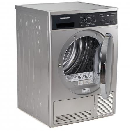 Uscator de rufe Heinner HHPD-V804SA++, Pompa caldura, 8 kg, Display LED, Lumina cuva, Anti-sifonare, Clasa A++, Argintiu3