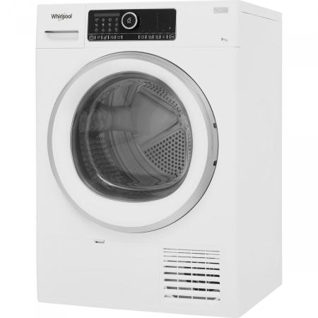 Uscator de rufe Whirlpool Supreme Care STU92XEU, Pompa de caldura, 9 kg, Clasa A++, Motor Inverter, 6th Sense, Display digital, Alb [1]