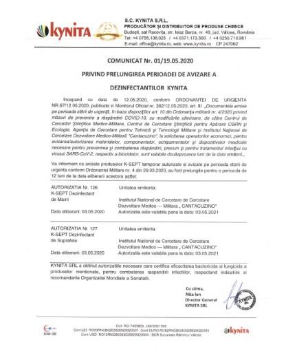 Dezinfectant De Suprafete K-SEPT 0.75L Cu Pulverizator 1