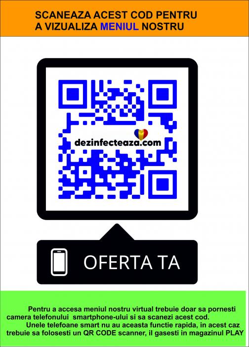 Meniu virtual pentru restaurante, terase, cafenele, baruri 0