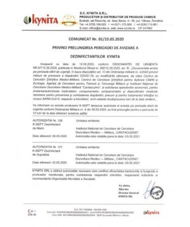 Dezinfectant De Suprafete K-SEPT 0.75L Cu Pulverizator1