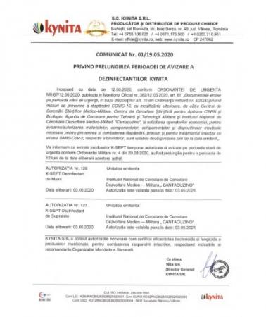 Dezinfectant De Suprafete K-SEPT 10L1