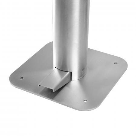 Dispenser de podea cu pedala Dr. Drop argintiu3