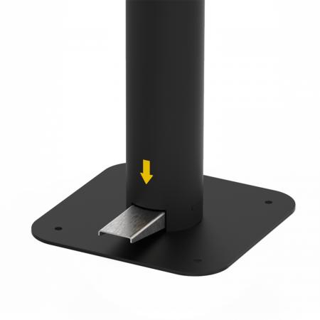 Dispenser de podea cu pedala Dr. Drop negru2