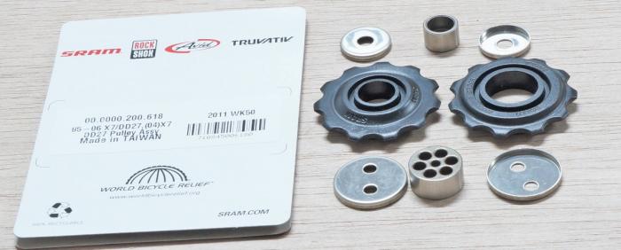04-09 X7/Dual Drive27, Sx5, 08-09 X5 Rear Derailleur Pulley Kit Qty 2 1