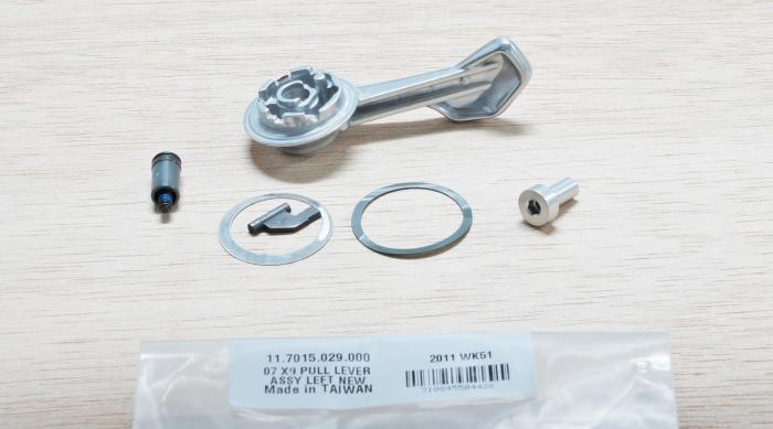 07-09 X9 Pull Lever Assy, Left New (< Nov 06) [1]