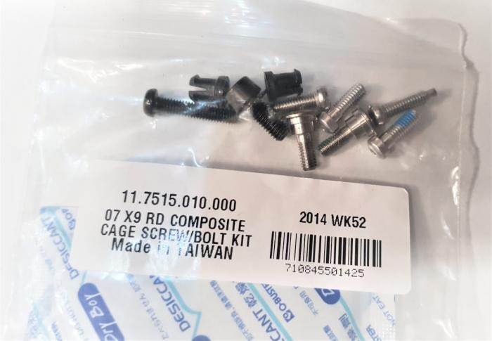 07 X9 Rd Composite Cage Screw/Bolt Kit 1