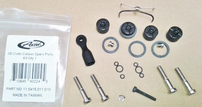 08-10 Code Caliper Spare Parts Kit Qty 1 Caliper (Code & Code 5) 1