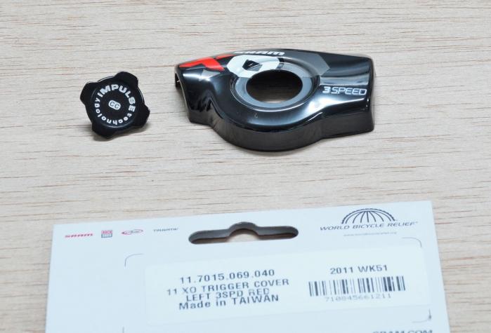 11 X0 Trigger Cover Kit Left 3Speed Red [1]