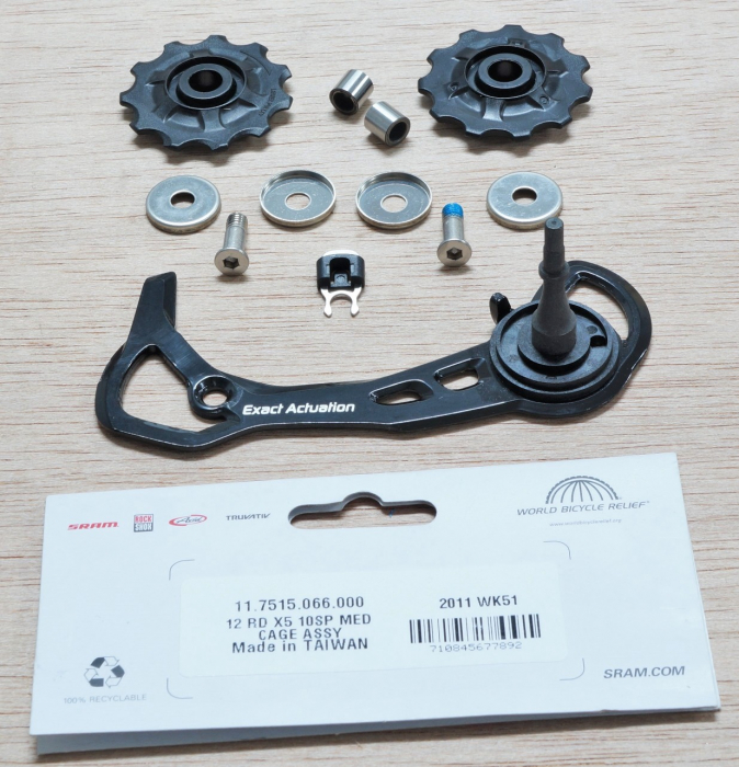 12 Rear Derailleur X5 10 Speed Medium Cage Assembly (Inner Cage & Pulleys, Outer Cage Not Replaceable) 1