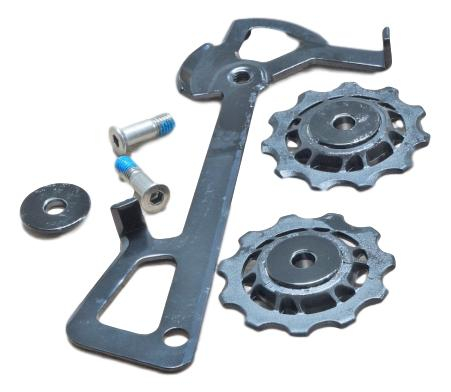 2010 X7 Rear Derailleur Cage Kit Long (Inner Cage & Pulleys, Outer Cage Not Replaceable) 0