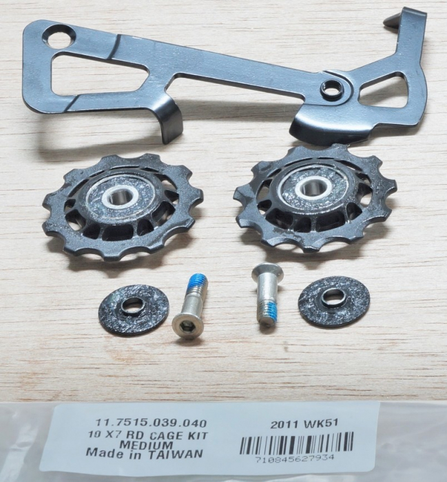 2010 X7 Rear Derailleur Cage Kit Medium (Inner Cage & Pulleys, Outer Cage Not Replaceable) 1