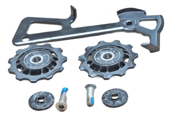 2010 X7 Rear Derailleur Cage Kit Medium (Inner Cage & Pulleys, Outer Cage Not Replaceable) 0