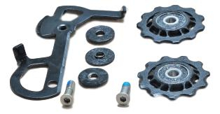 2010 X7 Rear Derailleur Cage Kit Short (Inner Cage & Pulleys, Outer Cage Not Replaceable) 0