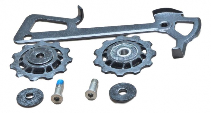 2010 X9 Rear Derailleur Cage Kit Long (Inner Cage & Pulleys, Outer Cage Not Replaceable) 0