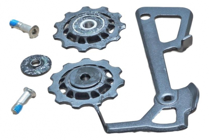 2010 X9 Rear Derailleur Cage Kit Medium (Inner Cage & Pulleys, Outer Cage Not Replaceable) 0