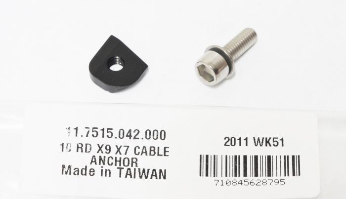 2010 X9 Rear Deraillieur Cable Anchor Bolt Kit 1