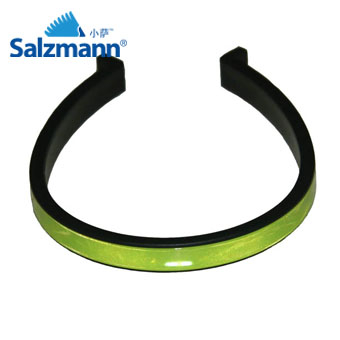 Accesorii Reflectorizante Salzmann 3M - Cleme, nylon flexibil, prindere peste pantalon, set 2buc, verde fosfor. 0