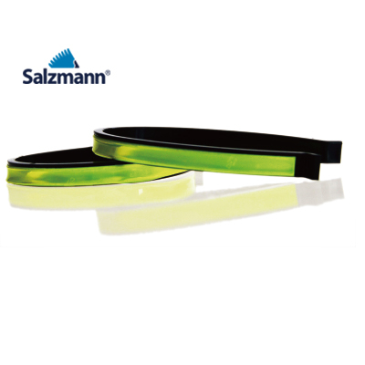 Accesorii Reflectorizante Salzmann 3M - Cleme, nylon flexibil, prindere peste pantalon, set 2buc, verde fosfor. 1