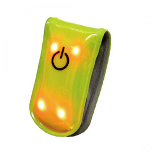 Accesoriu Reflectorizant Salzmann 3M - sclipitor, 4 LED'uri, prindere magnetica, 3 funct, batt CR2032, verde fosf 0