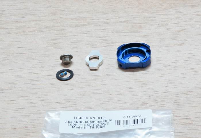 Adjuster Knob Kit, Compression Damper, Mission Control Dh - 2011-2012 Boxxer R2C2/Wc (Low Speed, High Speed, Retaining Screw) Cannot Be Used With 2010 Compression Damper. 1